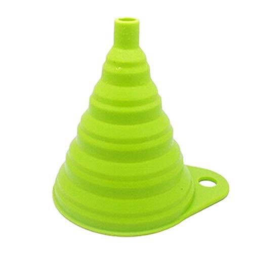 WLKJ Geschirr Falztrichter Praktische Küchenhelfer (Color : Green)
