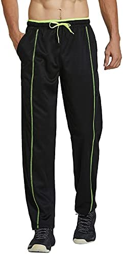 Gleeter Men's Athletic Sweatpants Open Bottom Joggers Loose Fit Running Pants with Pockets