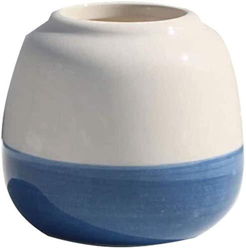 Cerámica Escritorio, estudio u otro color de escritorio de estilo múltiple color azul pulgar de cerámica adecuado para colocar una maceta de macetas de maceta para plantas y flores (color: D) Decoraci
