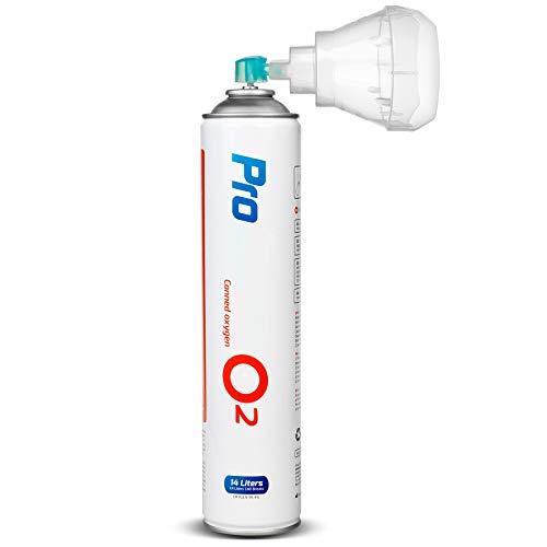 Maclean PR-994 Medizinischer Sauerstoff 14L in der Dose o2 99,4% Universal Mundstück Inhalierbar (1)