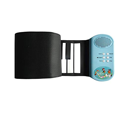 Kiker Music Roll Up Piano Premium Grade Silicone |THICKENED KEYS | Upgraded Built-in Amplifying Speakers | Portable Piano Keyboard MIDI USB (49 Keys)