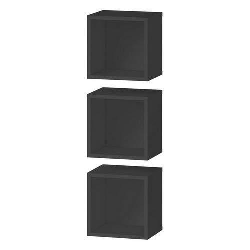 CS SCHMAL Möbel Hohe Dichte Spanplatte Media Centre Storage Solutions, 92x 32x 12cm, schwarz