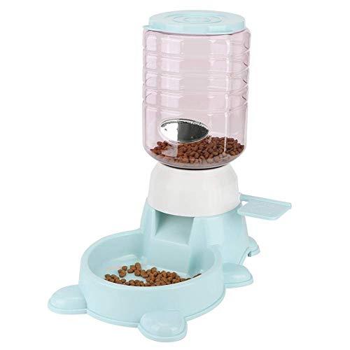 BeiMi Tazón de alimentación for mascotas de gatos y perros 1.8L, dispensador de agua oculto Dispensador de agua 2 en 1 correa de botella de agua, alimentador automático inteligente inteligente de gran