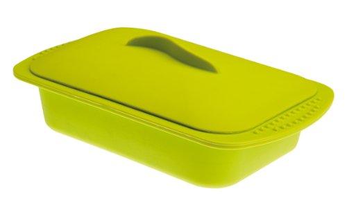 IBILI Dampfgarer, Silikon, grün, 15 x 24 x 5 cm