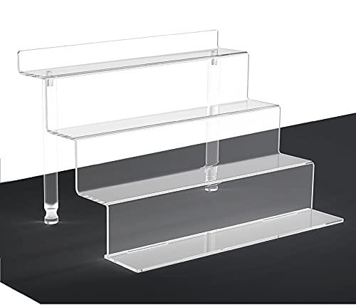WINKINE Mesa de acrílico transparente con 4 niveles para figuras Amiibo Funko POP, especiero, postre, escritorio y armario organizador para cosméticos y manualidades (1 pieza pequeña)