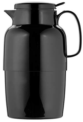 Helios Mondo Push Kunststoff-Isolierkanne, schwarz, 2 Liter
