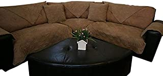 Bonded Micro Suede Customised Quilted Sectional Sofa Throw Pad Furniture Protector Sold By Piece Rather Than Set (Peat, 35x62