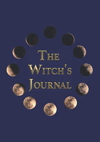 The Witch's Journal: Lunar Phases with gold encryption