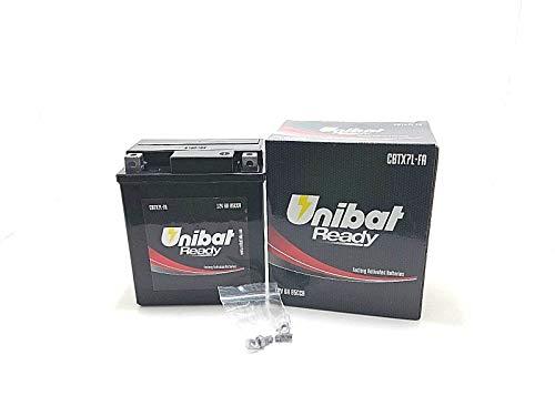 Batteria Moto Pronta all'Uso UNIBAT READY CBTX7L-FA SH 125 150 2000 2001 2002 2003 2004 2005 2006 2007 2008 2009 2010 2011
