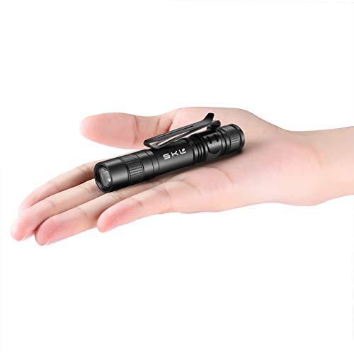 Linterna pequeña de bolsillo con batería AAA y funda de batería, ideal para camping, senderismo, mochilero, emergencia, de la marca MiNi