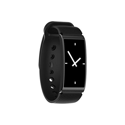 Smart Armband GPS Smart Fitness Tracker Monitor Erinnerung Uhren Blutdruck wasserdichte Armbänder für Android ISO - schwarz