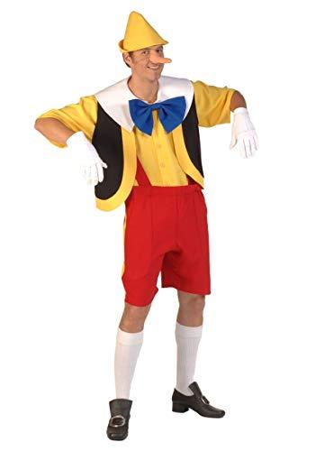 Thetru Disfraz de Pinocho talla M-XL muñeca de madera carnaval mentirosa nariz larga cuento de hadas (M)
