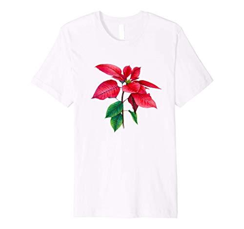 Poinsettia Christmas Star Watercolor Illustration New Year Premium T-Shirt