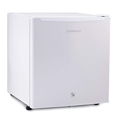 Subcold Eco50 Mini Fridge White | Table-Top Model | Counter-Top Fridge | Solid Door with Ice-Box | Lock & Key | Low Energy A+ (50L, White)