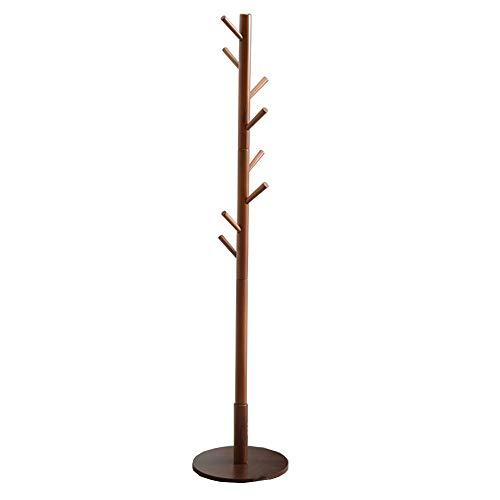 NEHARO Abrigo Soporte de Rack Sala de Estudio Perchero Simple Moderna de Madera Maciza Suelo de suspensión de Madera Maciza Perchero Fácil de Acceder (Color : Black Walnut, Size : 175x38cm)