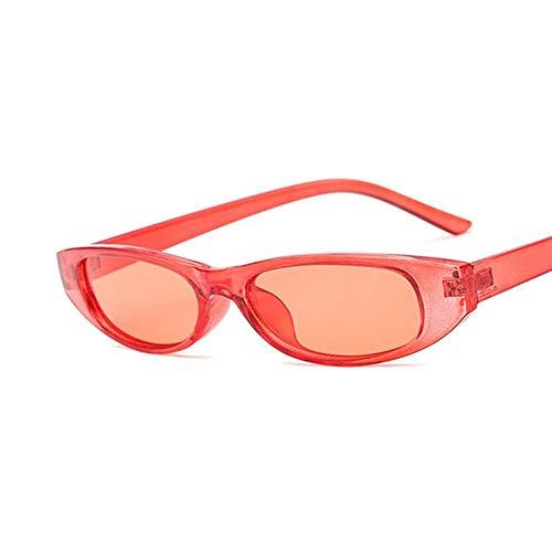 Vintage Rectángulo Gafas De Sol Mujeres Gato Ojo Señoras Pequeño Marco Negro Rojo Gafas De Sol Uv400 Adecuado para Compras De Viajes Al Aire Libre Y Tomar El Sol, Etc.- Rojo