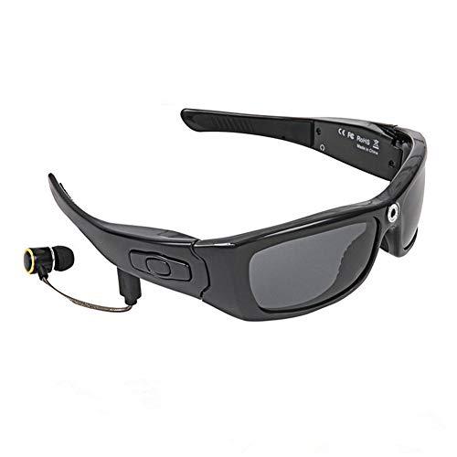 Wan&ya Gafas de Sol inalámbricas Bluetooth para Hombres Deportes al Aire Libre Gafas Inteligentes 1080P cámara HD Video Foto Gran Angular 120 ° Ciclismo Correr Auriculares para iOS Android