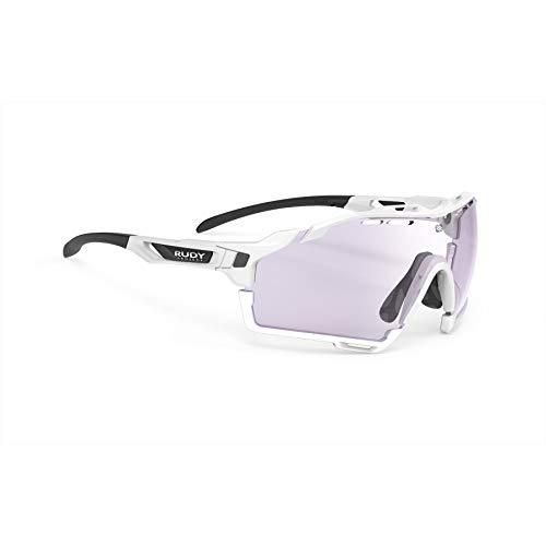 RUDY PROJECT Occhiali Cutline Golf, White Gloss - ImpactX Photochromic 2 Laser Purple