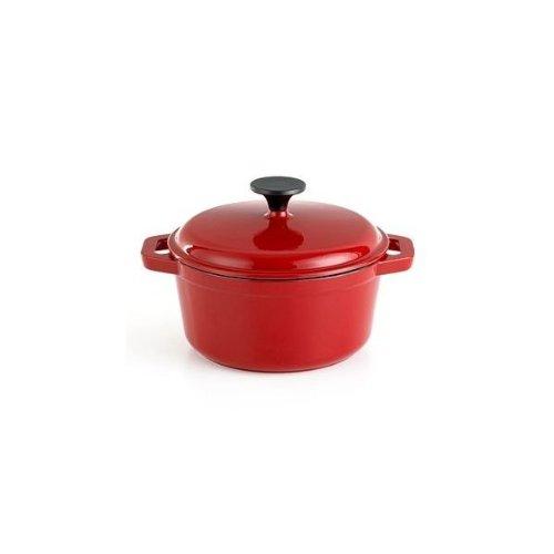 Bella Casserole 2.75 Qt Enameled Cast Iron Pot - Red
