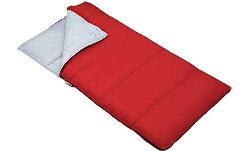 Outbound Kids Sleeping Bag | Compact and Lightweight Sleeping Bags for Girls and Boys | 3 Season, Warm and Cold Weather | Perfect for Youth, Camping and Backpacking | Red & Blue (Red)