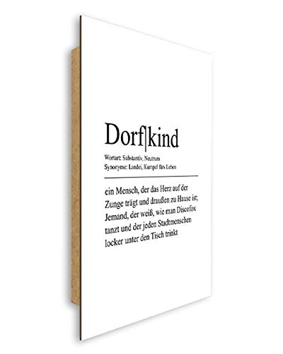 artissimo, Dekopanel, Deco Panel, ca. 29x41cm, PE6529-PA, Definition Wort Dorfkind, Bild mit Spruch, Spruchbild, Wandbild, Wanddekoration, Poster, Typographie, Typografie, Deko