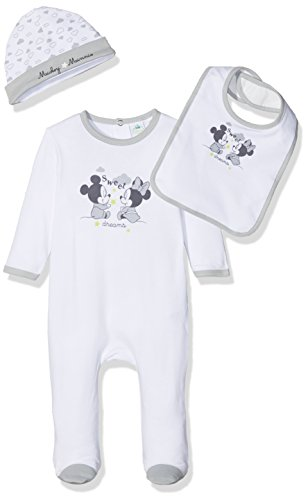 Mickey Mickey & Minnie Box Ensemble, Blanc (White), 3-6 Mois (Taille Fabricant: 3/6 Month) Bébé garçon