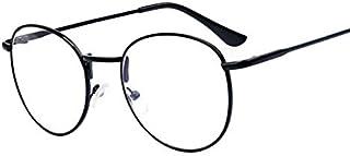 Unisex Korean Style Metal Frame Eyeglasses Round Retro Clear Lens Eyewear
