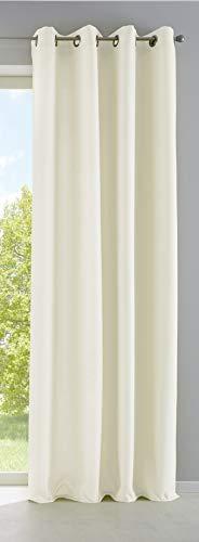 Vorhang Blickdicht Gardine Matt Lichtdurchlässig »Palermo« mit Ösen und Raffhalter Dekoschal HxB 225x140 cm Creme, 10000265