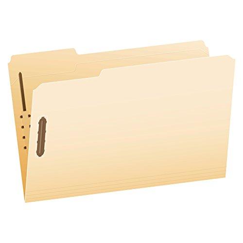 Pendaflex Manila Fastener Folders, Legal Size, 2 Fasteners, 1/3 Cut, 50/BX (FM313EE)