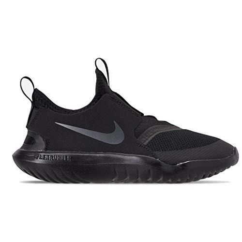 Nike Boys' Little Kids' Flex Runner Running Shoes (3, Black/Anthracite)
