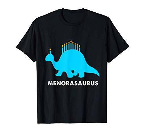 Dinosaur Hanukkah Menorah Dino Menorasaurus Rex T-Shirt