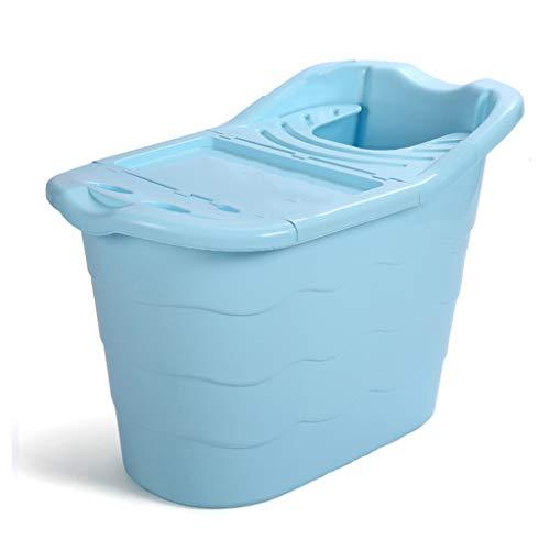 Kjz Badkuip met deksel, kunststof badkuip voor huisdieren, volwassenen, douchecilinder, badkamer, wasbak, hoge capaciteit