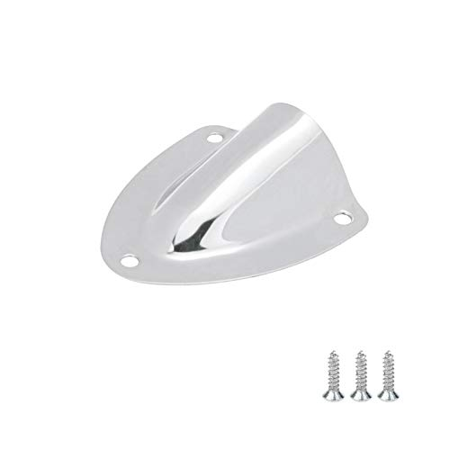Karcy Clamshell Vent Marine Clamshell Vent Shell Shaped Stainless Steel Clam Shell Vent Wire Cable Cover Boat Hardware with Screws 2.24