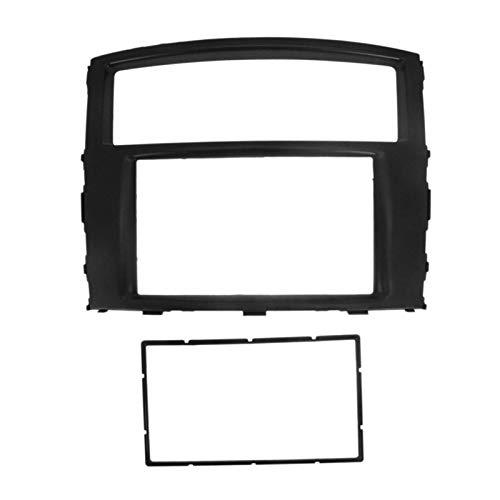 Danghe Coche Radio Fascias FIT FOR Mitsubishi Pajero 2007+ 2 DIN DVD Tablero De Instrumentos De Panel De Control De Panel De Panel De Recitoso Marco De Instalación (Color Name : Black)
