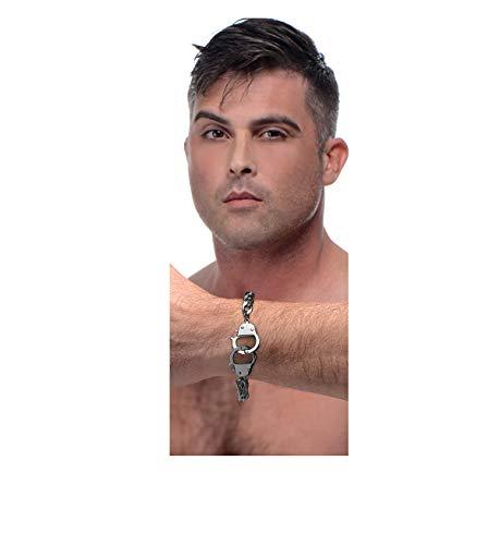 XR Merken Manchet Him Handboeien Armband, Zilver