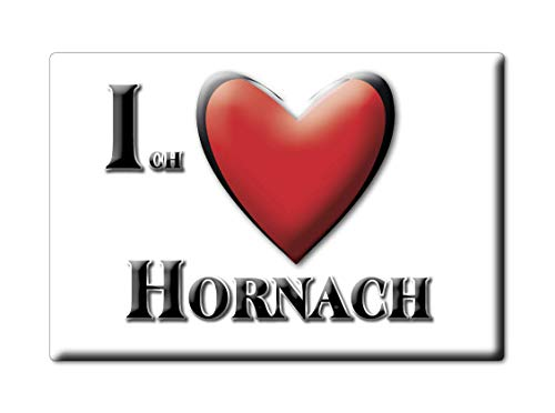 Enjoymagnets HORNACH (by) Souvenir IMANES DE Nevera Alemania Bayern IMAN Fridge Magnet Corazon I Love