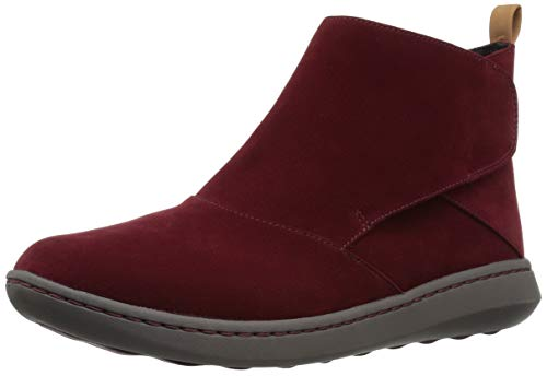 Clarks Women's Step Move Up Ankle Boot, Burgundy Synthetic, 065 M US