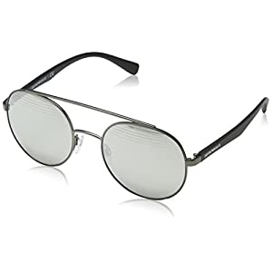 Armani sunglasses for men and women Emporio Armani EA2051 30106G Matte Gunmetal EA2051 Round Sunglasses Lens Catego