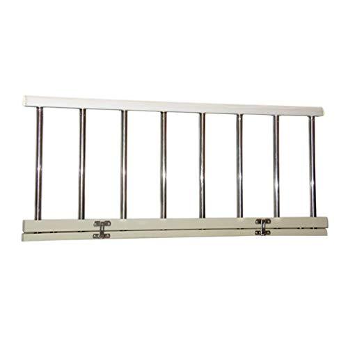 WCX Fold Down Bed Rails Guard RVS Ouderen Handrail Bed RailingHandle Handicap Assist Veiligheidsbescherming voor Meest Gemeenschappelijke Bedden Platform Bedden Kinderen Eenpersoonsbedden