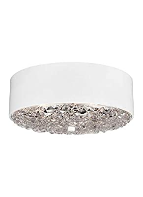 Feiss FM511ABBS Dori Glass Flush Mount Ceiling Lighting