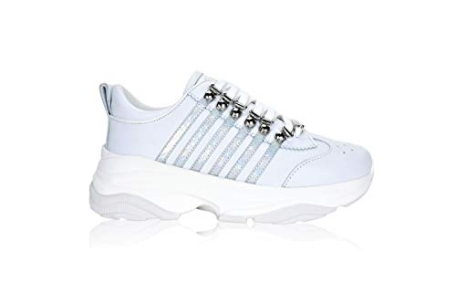 DSQUARED2 Bumpy 251 - Zapatillas deportivas para mujer Blanco Size: 37 EU