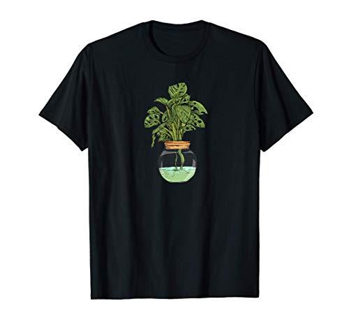 Monstera Deliciosa Variegata I Zimmerpflanze Pflanze Motiv T-Shirt