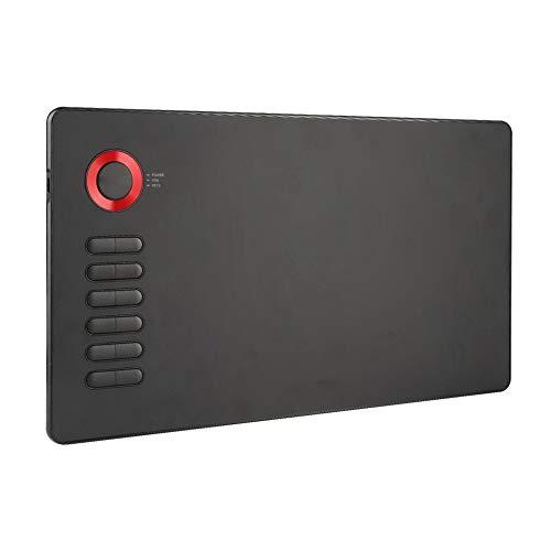 Tableta de Dibujo Digital, Tableta de Dibujo de Gráficos LCD, Tablero de Escritura de 10 x 6 Pulgadas con Lápiz óptico de Sensibilidad a la Presión Kit de Tableta de Dibujo por Computadora Liviano