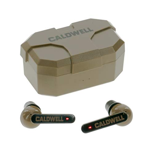 Caldwell EMax Shadows FDE 23 NRR  Electronic Hearing Protection with Bluetooth Connectivity for Shooting Hunting and Range