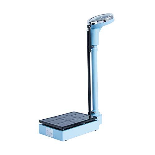 GMF Bascula Medica con Tallimetro 80~190cm, Escala De Altura Y Peso 120kg/160kg, Báscula Analógica, Adecuada para La Familia/Hospital/Fitness