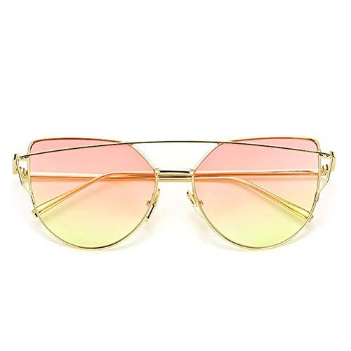 XYLZDPZ Syczdnmj Moda Ronda de Gran tamaño Gafas de Sol for Las Mujeres, Calle de la Moda de Las Mujeres Gafas de Sol, Gafas de Sol de los vidrios de Sun de la Vendimia Gafas de Sol Hombre