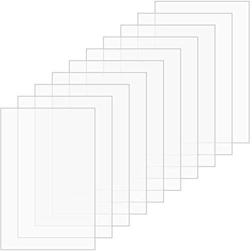 LAC Lot de 10 plaques en plexiglas transparent, parfaites comme plaques de rechange pour cadre, écran pour panneaux, 150 x 100 x 2 mm