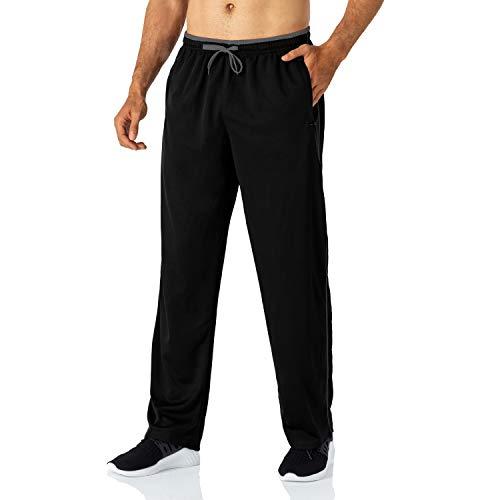 Butrends Jogginghose für Herren leichte schnell trocknende Herrenhose mit Reißverschlusstaschen Trainingshose mit elastischer Taille atmungsaktive Sporthose,Schwarz-grau,XXL