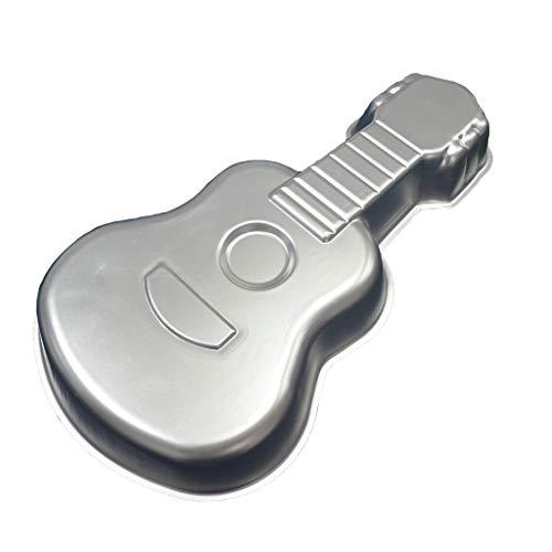 aiyvi Kuchen Backblech DIY Gitarre Form Backform Backformen Aluminium Backen Schimmel Geschenk Kuchen Fondant Keks Dekoration Backblech