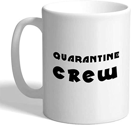 Taza de café de cuarentena de la tripulación social Distancing 2020 Cuarentena bebé divertido taza de té de cerámica Oz, 11 oz